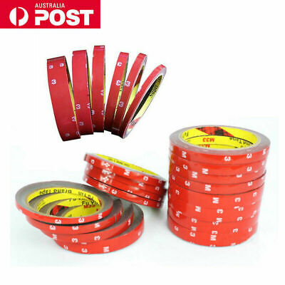 3M Vehicle Strong Permanent Double Sided Tape Auto Roll Sticky Adhesive Acrylic