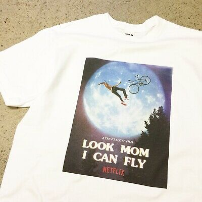 TRAVIS SCOTT LOOK MOM I CAN FLY T-SHIRT tour merch off supreme astroworld white