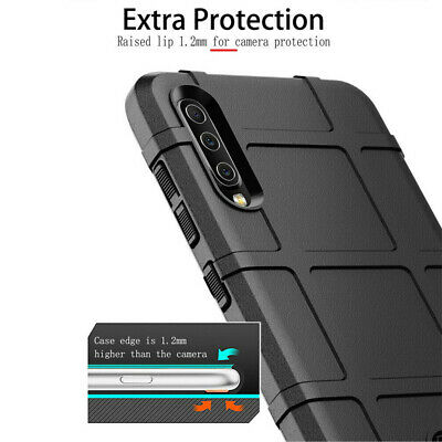 For Samsung Galaxy A40 A50 A70 Silicone Matte Heavy Duty Bumper Armor Case Cover