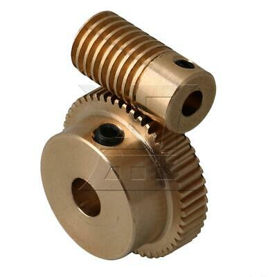 1:50 0.5-mode 50Teeth Industrial Brass Worm Gear & Shaft Reducer 4mm