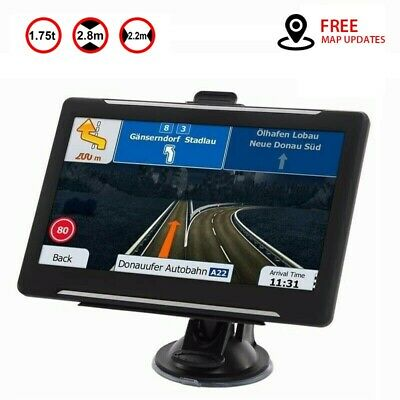 2019 New 7'' Car Truck Sat Nav GPS Navigation 8GB Free Lifetime UK & EU Maps POI