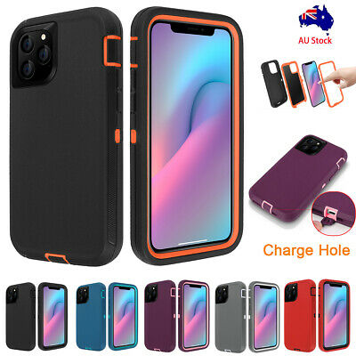 Rugged Hybrid Heavy Duty Shockproof Hard Case Cover Fr iPhone 11 Pro XS Max XR X