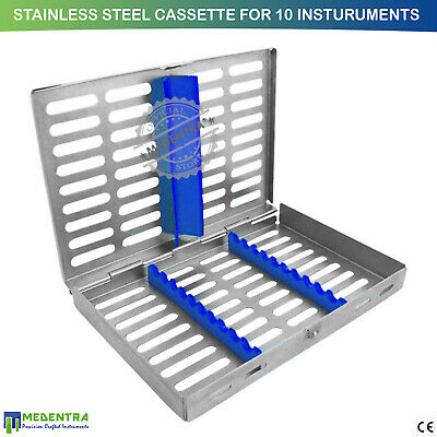 Stainless Steel Sterilization Cassette Box for 10 Instruments Surgical Dental CE