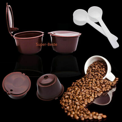 4x Refillable Coffee Capsule Cup For Dolce Gusto Nescafe Reusable Filter Pod 304