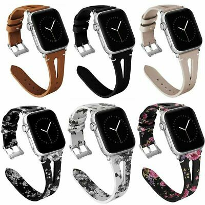 38/40/42/44mm Leather Watch Bands Strap For iWatch Apple Watch Series 4/3/2/1