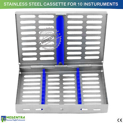 Surgical Dental Sterilization Cassette Stainless Steel Box for 10 Instruments CE