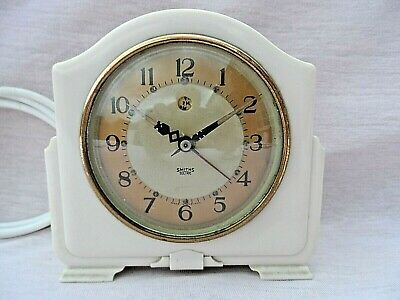 Vintage Smith Sectric Bakelite Art Deco Electric Alarm Clock Gwo Rewired Vgc