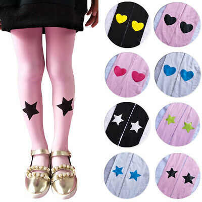 Kids Children Cute Printed Soft Tights Girls Comfortable Velvet Pantyhose