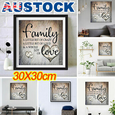 5D Diamond Painting Family Love Letter DIY Cross Stitch Home Wall Decor Craft T