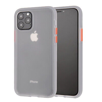 For iPhone 11 Pro XS Max XR 8 7 6S Matte Soft Bumper Shockproof Clear Case Cover