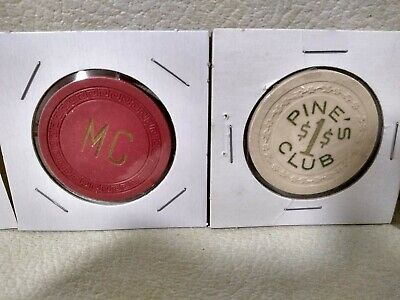 2 Early *****Illegal Casino Chips*****  ****Pine's Club & Mound Club**** Ohio