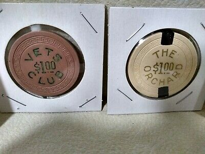 2 Early ****Illegal Casino Chips****   ****The Orchard & Veterans Club**** Ohio
