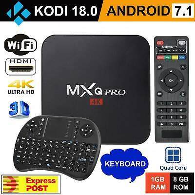 2019 MXQ PRO 4K QuadCore WiFi KODI 3D Smart TV Box Media Player Android 7.1 AU