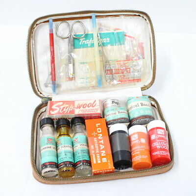 Trafalgar Vintage First Aid Kit Fawn Colour Faux Leather Case Display Only #563