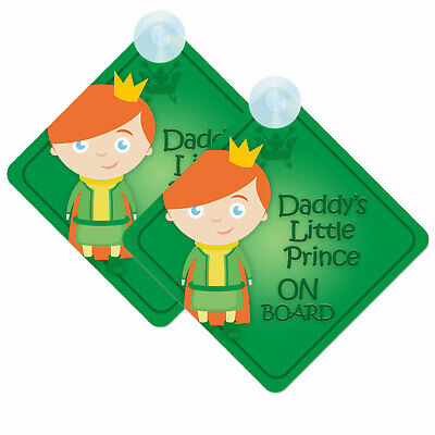Baby/Child On Board Twin Pack Daddy's Little Prince Car Signs (2pcs) BDLP003