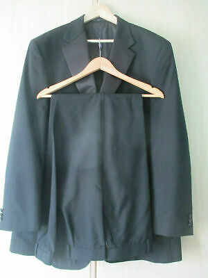 "mens MARKS & SPENCER BLACK SMART FORMAL EVENING TUXEDO SIZE 48""L - 44"" W - 31L"