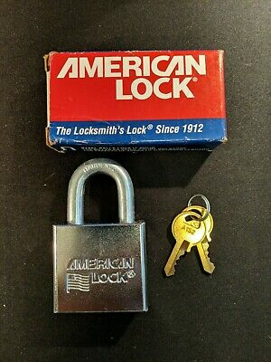 (A22) Brand New American padlock w/ security pins & keys - locksmith locksport