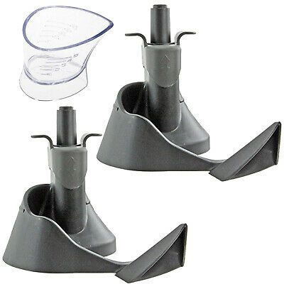 Mixing Blade Paddle Arm Seal x 2 & Oil Measuring Cup for TEFAL Air Fryer ACTIFRY