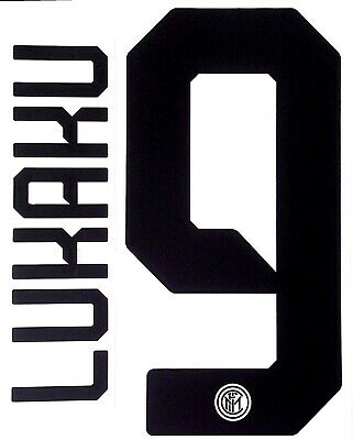 2019-20 Inter Milan Away Shirt LUKAKU#9 Official STILSCREEN Name Number Set