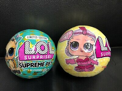 lol surprise Supreme Pet-Lucky Luxe Pony & Series 3 Tots Dolls~ Set Of-2. * RARE