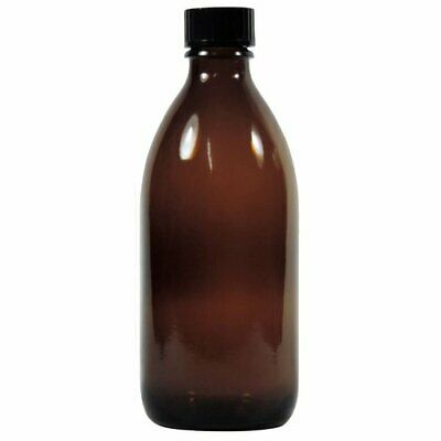 mikken Apothekerflasche braun 200 ml Glasflasche Medizinflasche made in germany