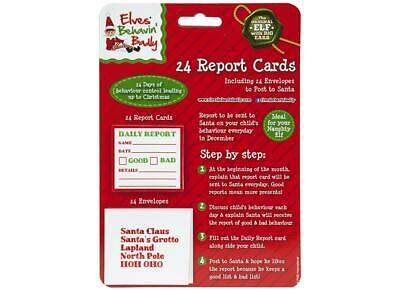 24Pc Mini Daily Report Card & Envelopes Props On The Shelf Ideas Toy Christmas