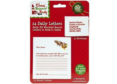 24 Daily Letter To Santa & Envelopes Props On The Shelf Ideas Toy Christmas