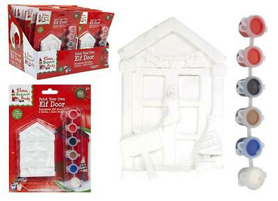 "4"" Paint Your Own Mini Pelmet Elf Door Props On The Shelf Ideas Toy Christmas"