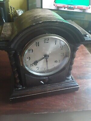 Anglo American New Haven Bracket Clock For Light Restoration