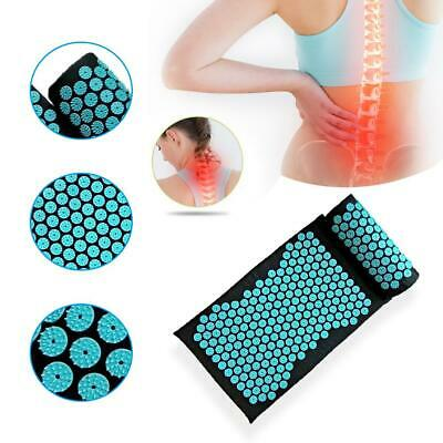 Body Massager Cushion Yoga Mat  Relieve Acupressure Yoga Pad With Pillow #T