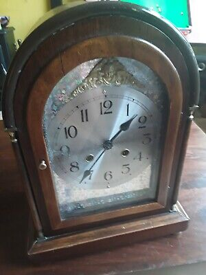 Good Bracket Clock With Hermle Movement As Seen