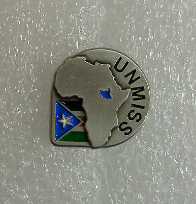 """Spilla/Pin """"UNMISS - UNITED NATIONS MISSION IN SOUTH SUDAN"""" - (Originale)"""
