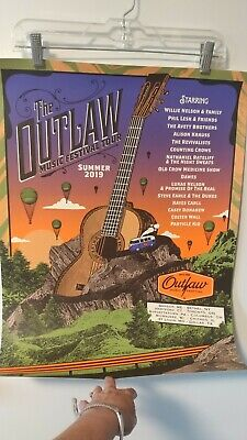 WILLIE NELSON OUTLAW MUSIC FESTIVAL POSTER 2019 AVETT BROS 18x24 #1603