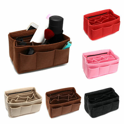 1x Multifunction Felt Insert Bag Liner Tote Make Up Cosmetic Container Organizer