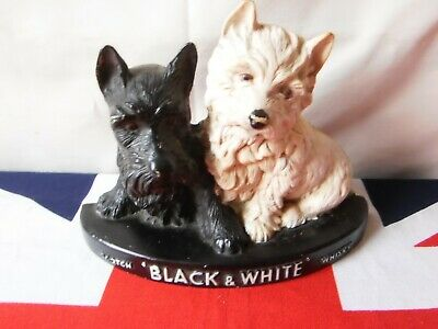 Vintage Black  & White Scotch Whisky Dogs Pub Man Cave