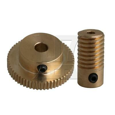 1:60 0.5-mode 60Teeth Industrial Brass Worm Gear & Shaft Reducer 3mm