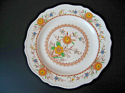 Set of 2 Steubenville Luncheon Salad Plates 8 3/4 inches Yellow Blue Flowers