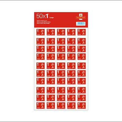 Royal Mail First Class Large Letter size 1st Class 50 Stamps Free P&P Brand New