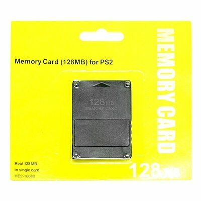 PS2 Slim Game Console 128MB Megabyte Memory Card Data For Sony PlayStation 2