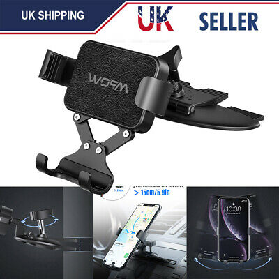 Mpow CD Slot Phone Holder In Car Stand Cradle Mount GPS for iPhone 11 Pro XS 8 7