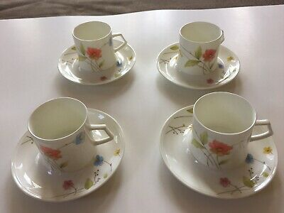 MIKASA  Fine Bone China Japan JUST FLOWERS A4-182  1- Cup And Saucer