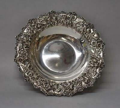 """S. Kirk & Son Co. Sterling Silver Repousse 11"""" Bowl  #227"""