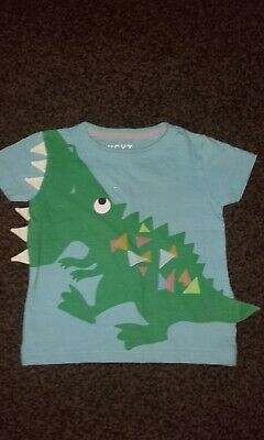 Next  Baby Boys Dinosaur Design Mega Tough Issue   T - Shirt New Without Tags
