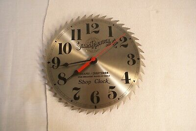 Vtg Sears Craftsman Saw Blade 10 In Wall Clock No Box Never Used Works