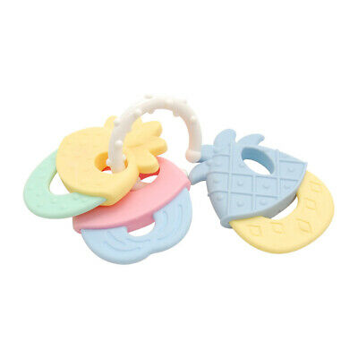 Cool and Chew Teether Keys Baby Rattle and Teether Ring Educational Toy