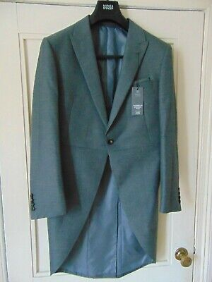 "M & S Morning Suit Jacket Grey Tails Smart Tailored Size 38"" New"