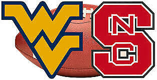 2 Tickets - West Virginia Mountaineers vs NC State Wolfpack Football