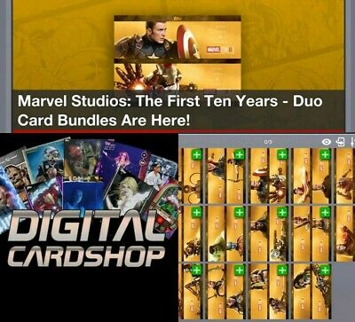 Topps Marvel Collect Card Trader Studios First Ten Years Duo Cards Full Set 14