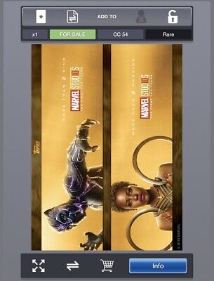 Topps Marvel Collect Digital Marvel Studios First Ten Years Duos Black Panther