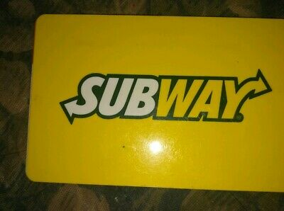 Subway * Used Collectible Logo w/Yellow Background Gift Card * NO VALUE